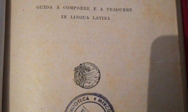 LATINO – Ugo Enrico Paoli – Scriver latino